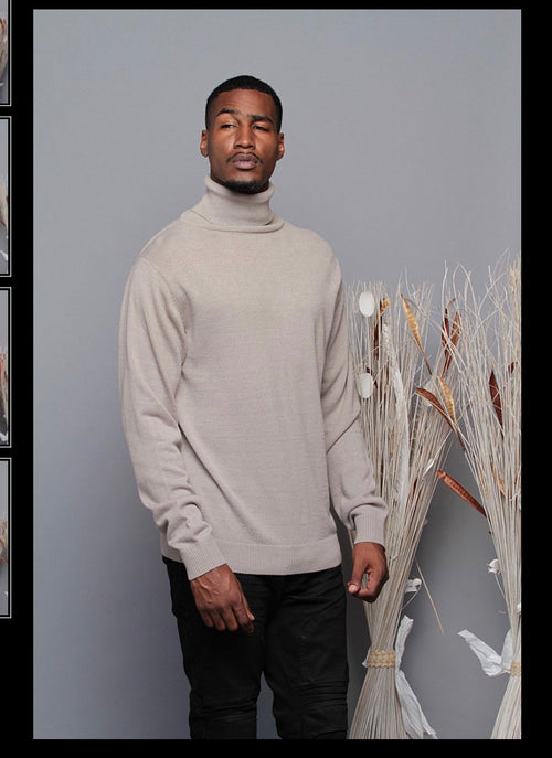 The Calm Turtleneck- Gray