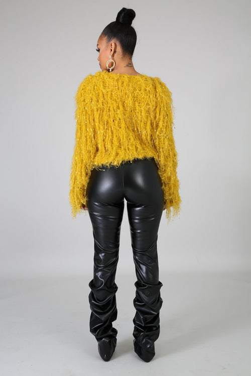 Cuddle Me Sweater- Mustard