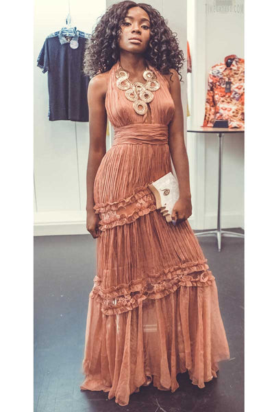 Spectacular View Maxi Dress in Blush