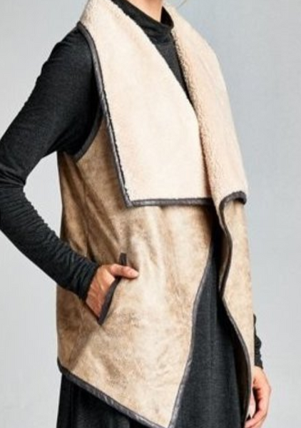 Crackled Faux Leather Vest