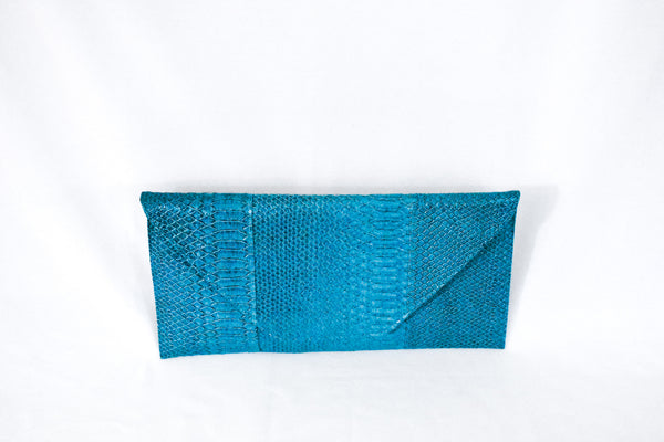Sunflower Snakeskin Clutch