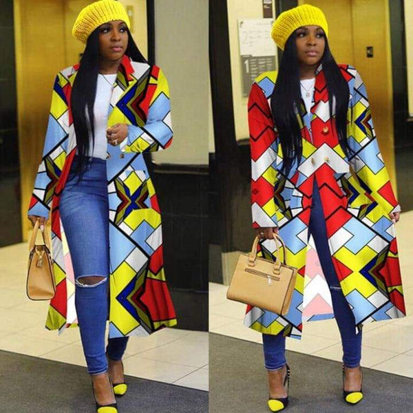 Printed Top Jacket Duster