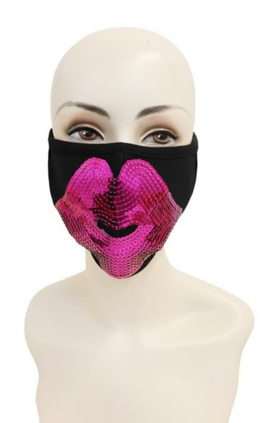 Sequin Kiss Face Mask