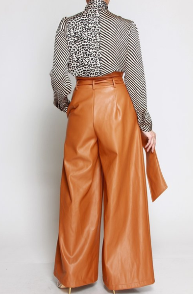 Leather Wide Leg Pants