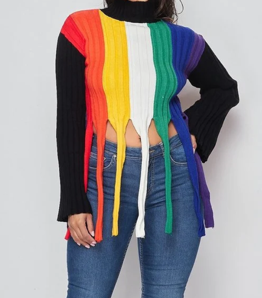Colored Block Sweater