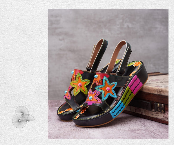 Colorful Flower Lady Slingback