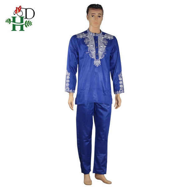 African Dashiki mens top pant 2 piece set