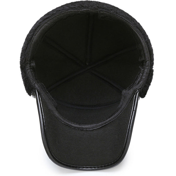 Leather Bomber Cap
