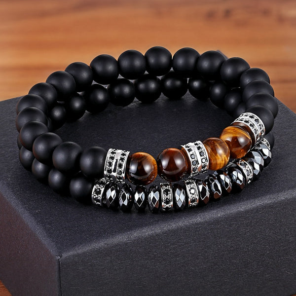 Eye of the Tiger (Tiger's Eye crystal)  Classic Set For Bracelets 12 Styles Choices Combination Adjustable Stand Beads Bracelet Hand Jewelry For unisex