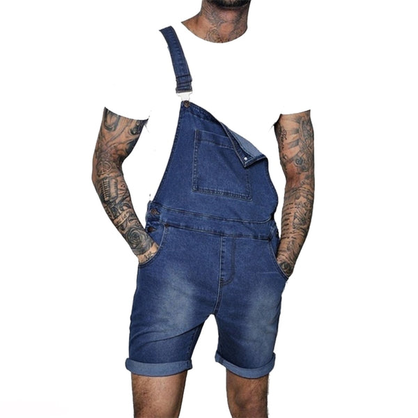 Trap House Pink | Denim | Overall Shorts | Men | 2020 | Jumpsuits
