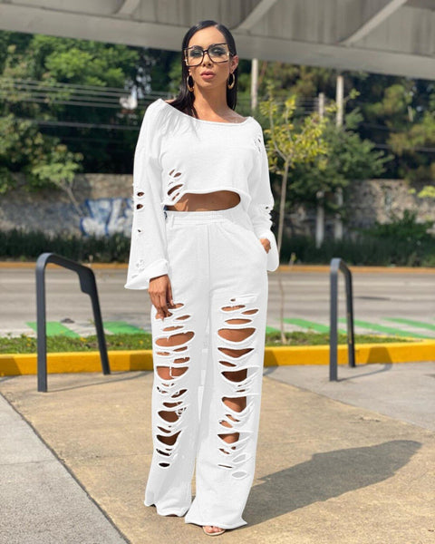 Casual Distress Two Piece