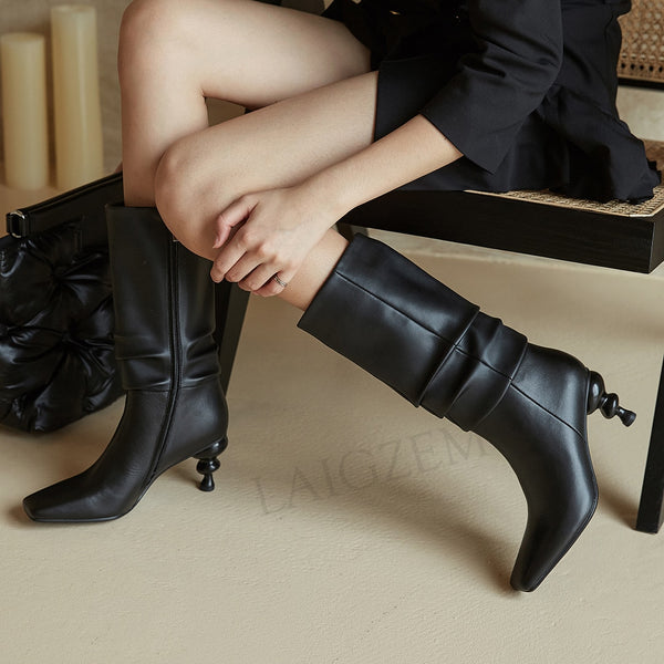 Genuine Leather Claf Boots