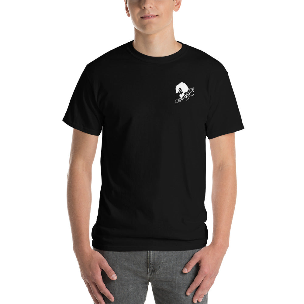 Short-Sleeve Black Cotton DGL T-Shirt