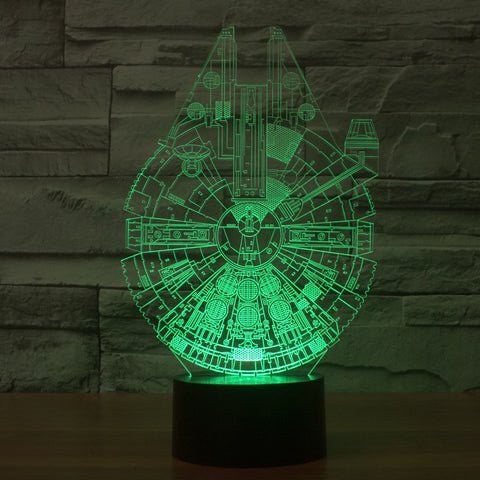 Millennium Falcon Light Star Wars 3D Star Trek Decor Bulbing Lamp Gadget LED - Mr Mrs Home