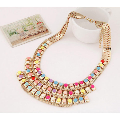 Alloy Crescent Personality Short Style Women's Necklace - Mr Mrs Home