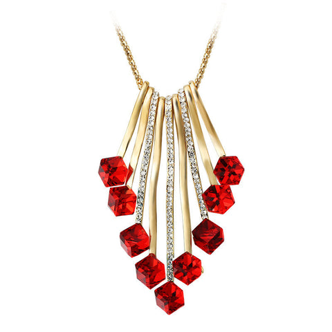 New Fashion 2016 Crystal Sweater Chain Necklace Tassel Exaggerated Long Chain Pendant Necklaces - Mr Mrs Home