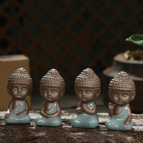 Buddha statue figurine decoration monk tea - Mr Mrs Home