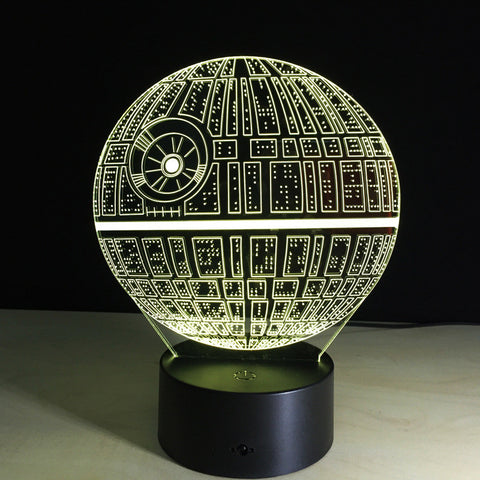 Star Wars Death star 3D LED Night Light Touch Switch Table Lamp USB 7 Color - Mr Mrs Home