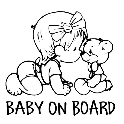 BABY ON BOARD Lovely Bear - Mr Mrs Home