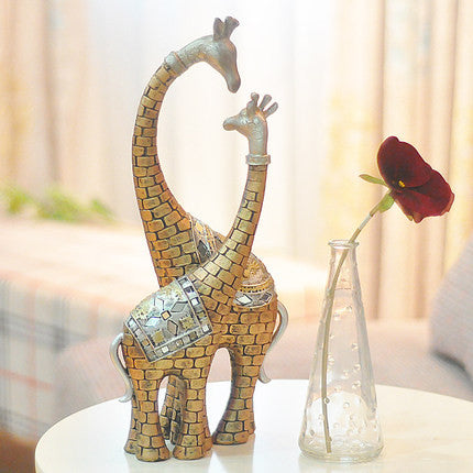 Living Room Ornaments giraffe lovers retro ornaments/ living room decorations crafts