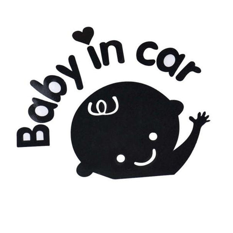 High Quality Baby In Car Waving Baby on Board Safety Sign Car Decal - Mr Mrs Home