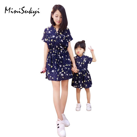 1pc Floral Matching Dresses Clothes Outfits - Mr Mrs Home