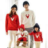 Family look Matching Outfits Mom/Dad/Baby red Long-Sleeve Cotton T shirts - Mr Mrs Home