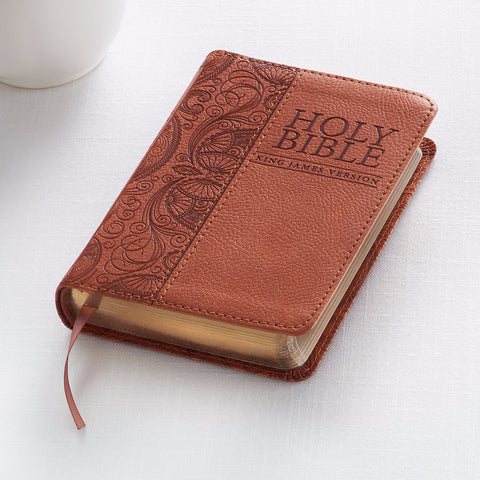 KJV Mini Pocket Bible Tan LuxLeather