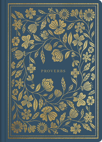 ESV Illuminated Scripture Journal Proverbs Blue Softcover