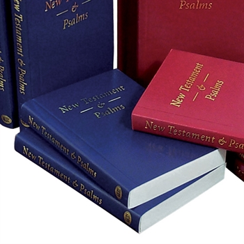 KJV Pocket New Testament & Psalms Blue Softcover