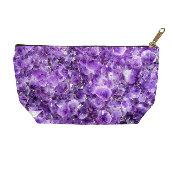 Amethyst Accessory Pouch - Crystals Are Cool