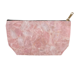 Rose Quartz Accessory Pouch - Crystals Are Cool