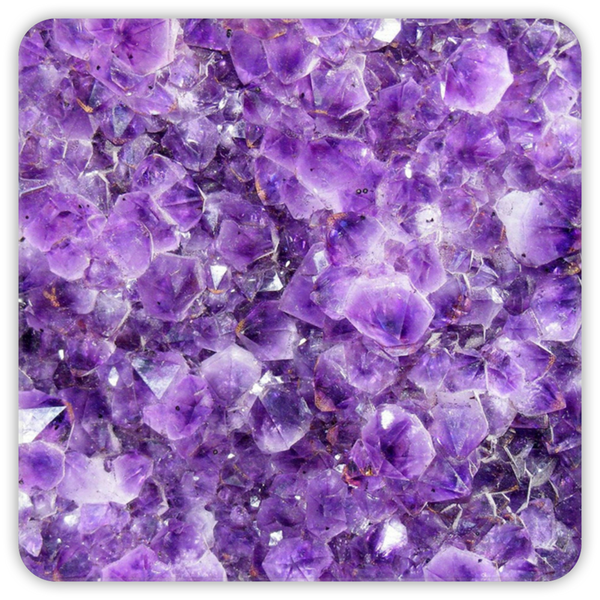 Premium Amethyst Coasters (4 pack) - Crystals Are Cool