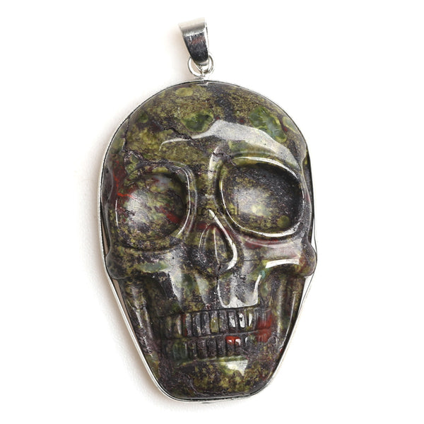 Agate Skull Necklace - Crystals Are Cool