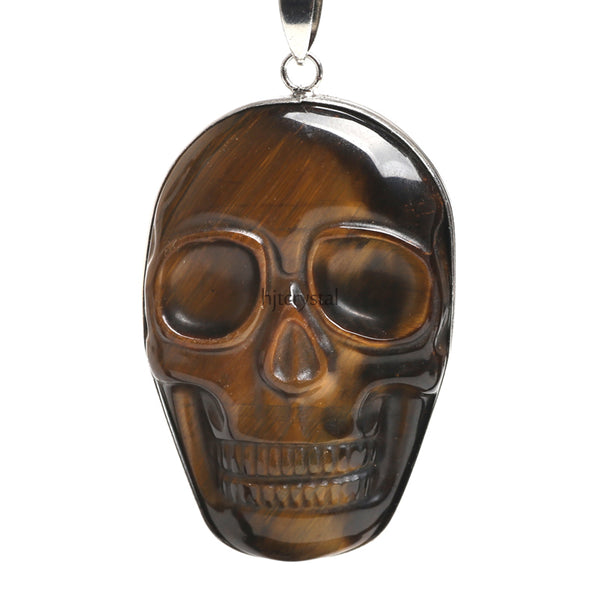 Tiger's Eye Skull Necklace - Crystals Are Cool