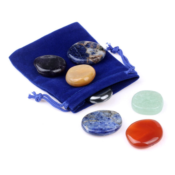 7 Chakra Palm Stone Set - Crystals Are Cool