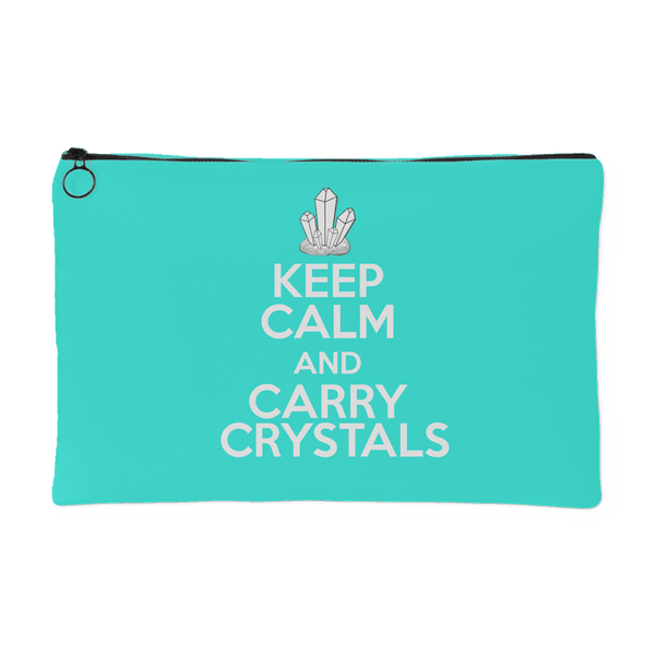 Keep Calm And Carry Crystals Pouch (Small) - Crystals Are Cool