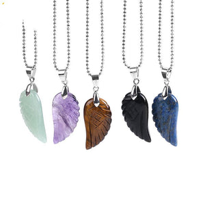 Crystal Angel Wing Necklace - Crystals Are Cool