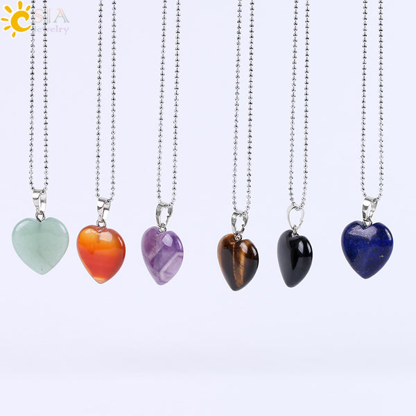 Crystal Heart Necklace - Crystals Are Cool