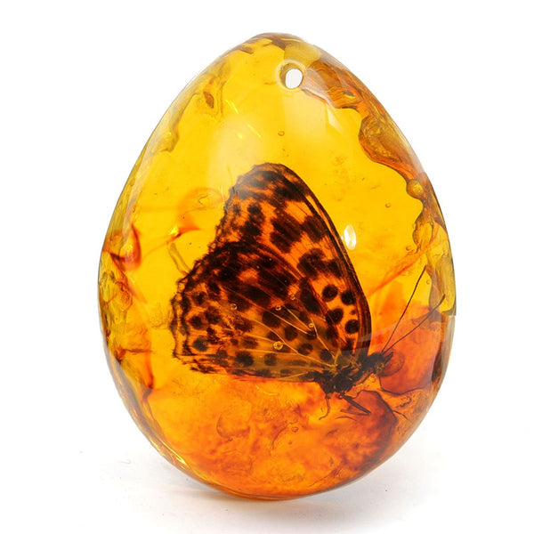 Butterfly Amber Pendant - Crystals Are Cool