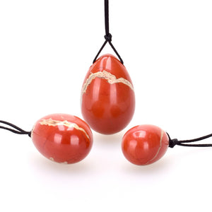 Red Jasper Yoni Egg Set (3pcs) - Crystals Are Cool