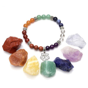 7 Chakra Crystals & Bracelet Set - Crystals Are Cool