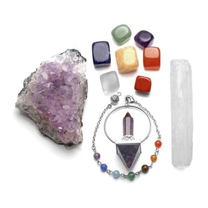 Energy Kit with Selenite & Amethyst - Crystals Are Cool