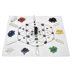 Crystal Healing Grid W/ Crystals - Crystals Are Cool