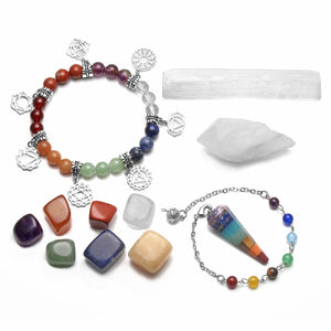 High Vibrational Chakra Kit with Quartz, Selenite & Amethyst - Crystals Are Cool