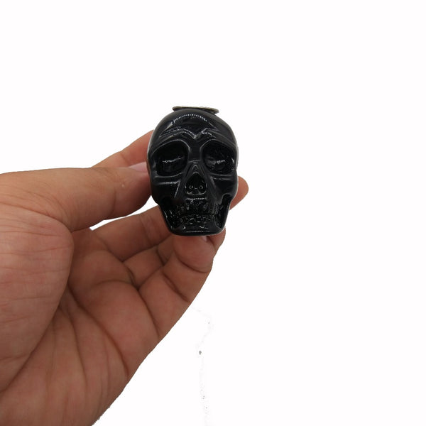 Obsidian Crystal Skull Pipe - Crystals Are Cool