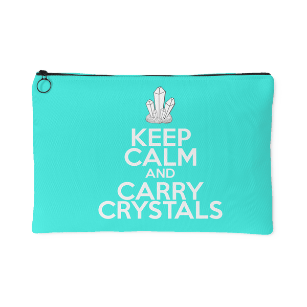 Keep Calm And Carry Crystals Pouch (Large) - Crystals Are Cool