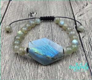 Labradorite Beaded Bracelet - Crystals Are Cool