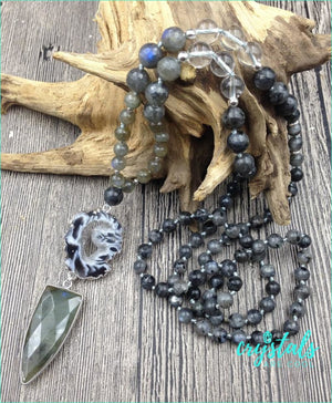 Labradorite Geode Necklace - Crystals Are Cool