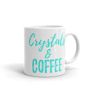 Crystals & Coffee Mug 11 oz (White) - Crystals Are Cool